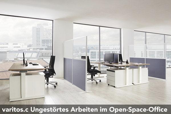 Arbeitsplatzsystem varitos c d t e concept gmbh - Buroeinrichtung modern ...